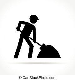 work icon on white background