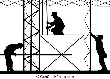 workers - illustration of workers on site