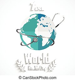 World health day concept with globe