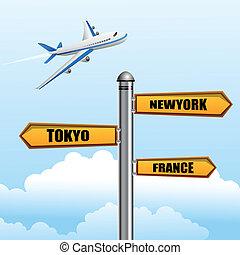 illustration of world tour