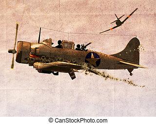 Dauntless Dive Bomber Plane