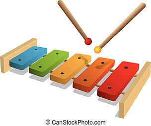 illustration of xylophone on a whit