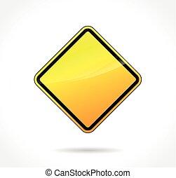 yellow warning blank sign