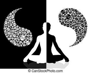 yin yang symbol - illustration of yin yang symbol