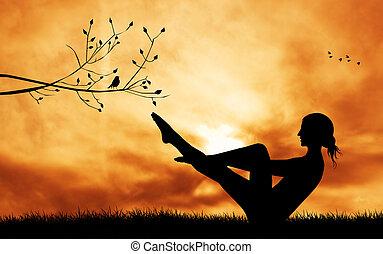 illustration of yoga pose