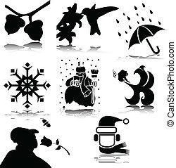 illustration off stuff vector silho