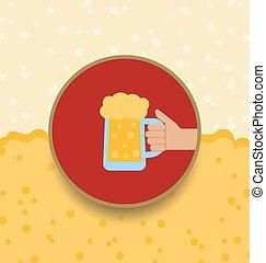 Oktoberfest Background with Mug of Beer