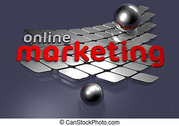 Online Marketing - Illustration on business concepts - Art ...