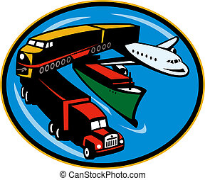 land, sea, and air freight, transportation and travel.