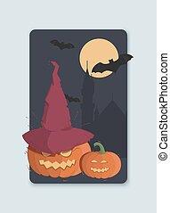 Illustration on the theme of Halloween invitation