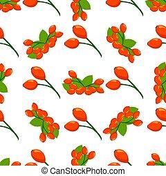 Illustration on theme big colored seamless rose hip, bright ...