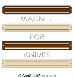 set different types magnets different size for knives