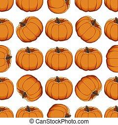 Illustration on theme of bright pattern yellow pumpkin