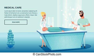 Illustration Operative Medical Care Sick Patient