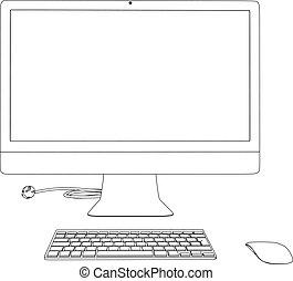 illustration ordinateur, 3d