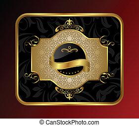 ornate decorative golden frame