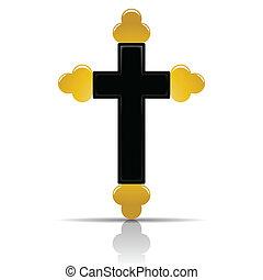 Illustration Orthodox cross on a white background.