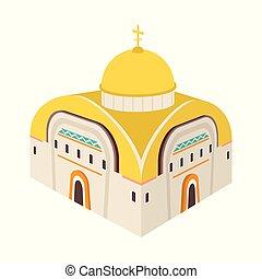 illustration., orthodox, sammlung, vektor, design, kirche, icon., kapelle, bestand