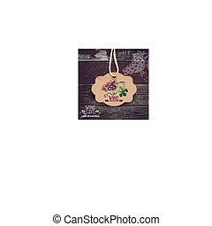 illustration., ouderwetse , hand, watercolor, label., getrokken, wijntje