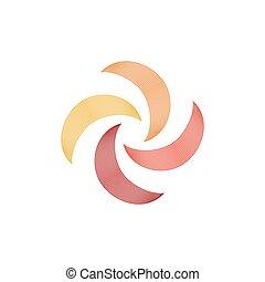 illustration., ouragan, icône, symbole, tourbillon, vecteur,...