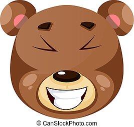 illustration, ours, arrière-plan., rire, vecteur, blanc