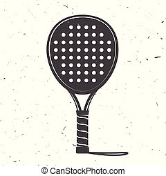 illustration., padel, tennis, vecteur, raquette, icon.