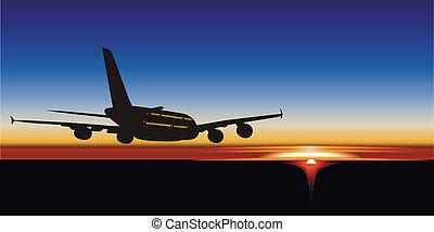 Airbus at sunrise