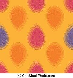 illustration., pattern., seamless, clair, vecteur, paques, heureux