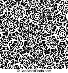 illustration., pattern., seamless, islamique, vecteur, fond