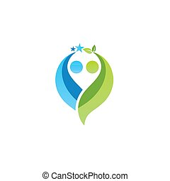 people partner teamwork logo symbol icon vector design