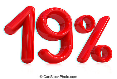 "illustration., percent., -, ""19"", anaglyph., 見なさい、, 3d, 3d., 光景, nineteen, red/cyan, 赤, ガラス"
