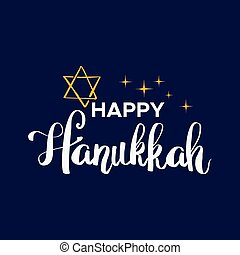 illustration., plano de fondo, hanukkah, vector