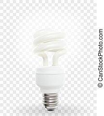 illustration., powersave, arrière-plan., lampe, vecteur, éclairage, transparent