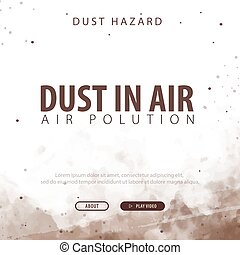 illustration., powietrze., zanieczyszczony, hazard., wektor, kurz