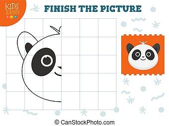 illustration., preschool, vektor, komplet, kopi, boldspil, billede, børn, coloring