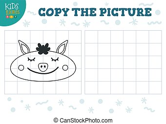 illustration., preschool, vektor, uddannelses, kopi, boldspil, billede, børn