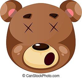 illustration, pris de vertige, ours, arrière-plan., vecteur, blanc, sentiment