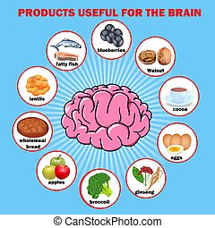 Illustration products useful for the brain
