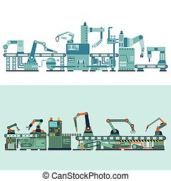 illustration., produktion, vektor, transporter