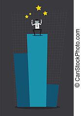 illustration., profit, concept., dessin, vector., éditorial