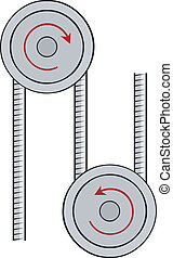 Illustration pulley