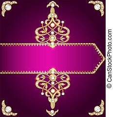 purple cover for a book with gold ornament