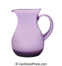 Illustration purple glass pitcher of juice