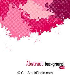 illustration., purpurowy, abstrakcyjny, text., malować, wektor, miejsce, plamy, tło, twój