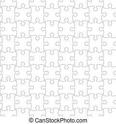 illustration., puzzle, puzzle, pattern., seamless, vecteur, template.