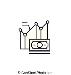 illustration., q.i., concept., symbole, signe, vecteur, essai, ligne, icône, linéaire
