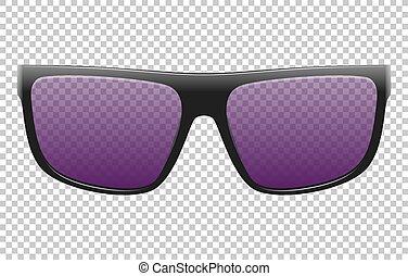 illustration, réaliste, lunettes soleil, vecteur