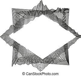 illustration., résumé, text., isolé, arrière-plan., vecteur, monochrome, blanc, cadre