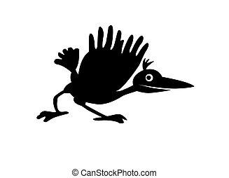 illustration ravens on white backg