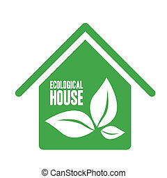 ecological house - Illustration recycling, ecological house...